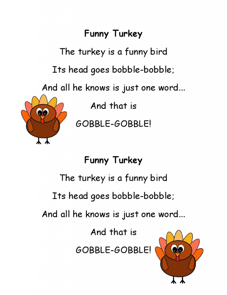 Funny Thanksgiving Day Poems