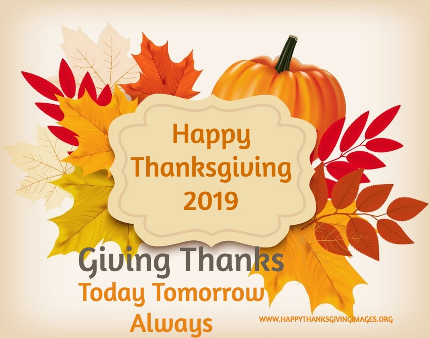 Happy Thanksgiving 2019