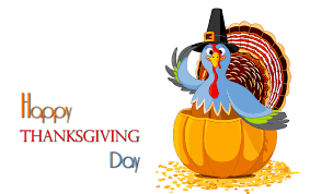 Happy Thanksgiving Turkey Clipart