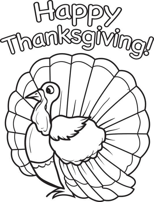 Images Of Thanksgiving Coloring Pages