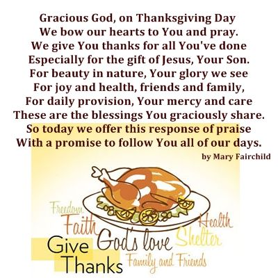 Religious Thanksgiving Poems