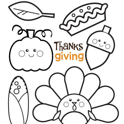 Thanksgiving 2019 Coloring Pages